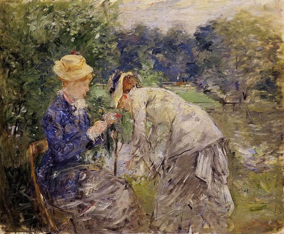 «En el bosque de Boulogne» de Berthe Morisot