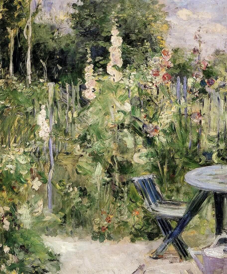 «Malvarrosas» de Berthe Morisot